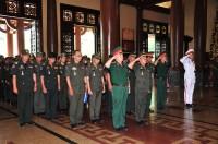 Tổ chức đón tiếp đoàn cán bộ sĩ quan Bộ Tư lệnh