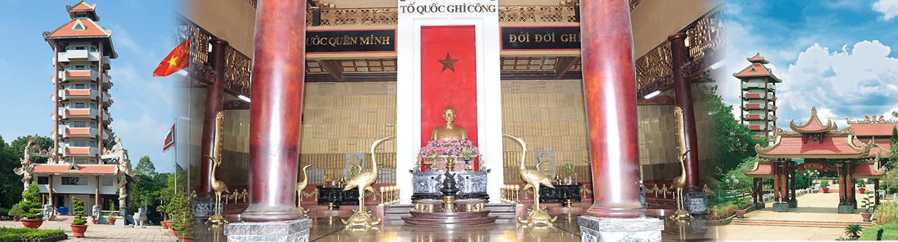 Chính diện - Đền Tưởng Niệm Liệt Sĩ Bến Dược