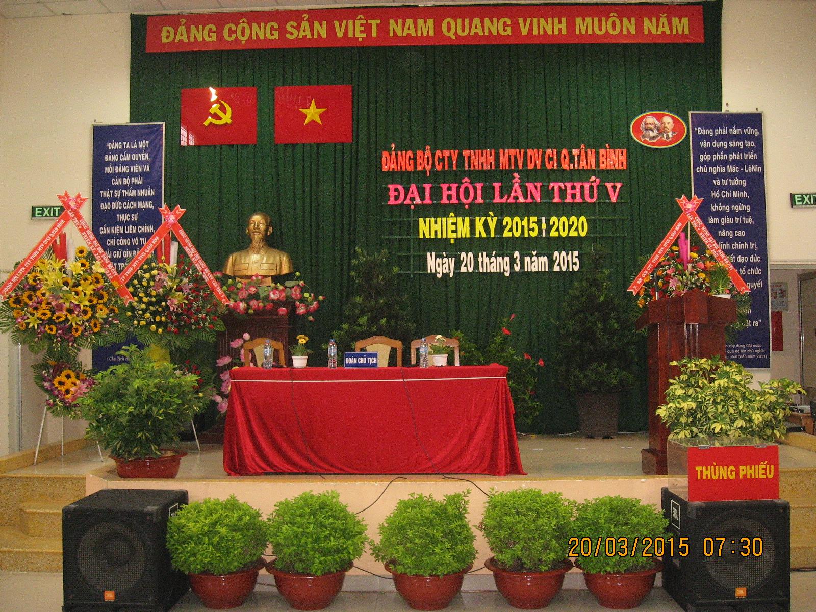 Đảng Bộ Công ty TNHH MTV Dịch vụ công ích quận Tân Bình tổ chức Đại hội Đảng viên lần thứ V nhiệm kỳ 2015 - 2020
