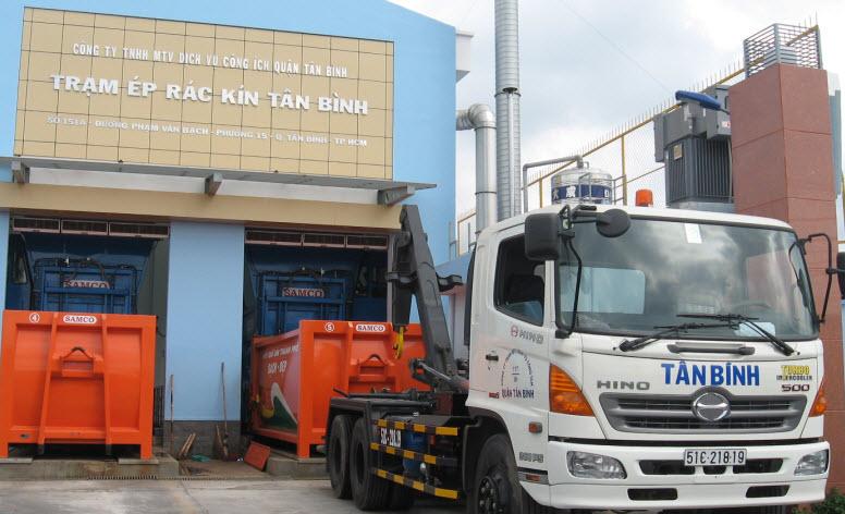 Trạm ép kín rác Tân Bình